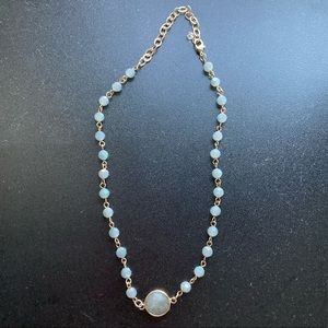 New Anthropologie blue necklace